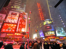 42 street under the snow. A shot of 42 street in the snow blizzard Stock Photography