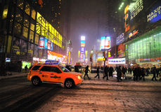 42 street under the snow Royalty Free Stock Image