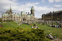 420 Parliament Hill - Marijuana Activists Royalty Free Stock Photos