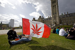 420 Parliament Hill - Marijuana Activists Stock Image
