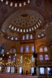 427 het blauwe plafond van de Moskee Stock Foto