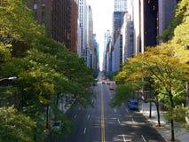 42nd manhattan gata Royaltyfri Fotografi