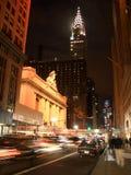 42nd rua em a noite Imagem de Stock