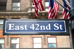 42nd St, NYC Royalty Free Stock Photography