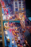 42nd Street. Rush hour on 42nd Street in New York City royalty free stock photography