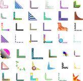 42x de vectorOntwerpen van de Hoek/van de Grens stock afbeeldingen