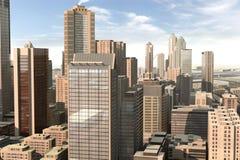 43虚构的城市 免版税库存照片