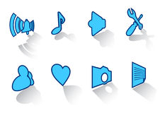 43 inställda symboler Arkivfoto