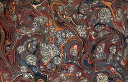 43 marmorerad paper renässansvictorian Arkivfoton