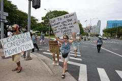 43 upptar anti apec honolulu protest Royaltyfria Foton