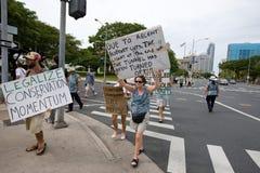 43 upptar anti apec honolulu protest Royaltyfria Foton