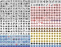 430 vector road signs stock photo