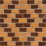 44块砖无缝的墙壁 库存照片