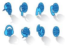 44 установленной иконы Стоковое фото RF