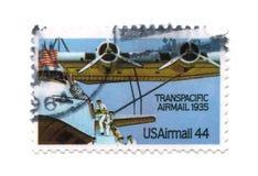 44 cent gammal portostämpel USA Royaltyfria Foton