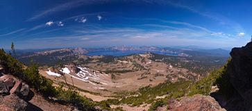 44 kraterów jeziorna megapixel panorama Zdjęcie Royalty Free