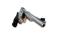 44 magnum revolver isolated wide angle view. 44 magnum revolver isolated, wide angle view Royalty Free Stock Photo