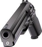 45口径枪向量 库存照片
