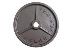 45杠铃lbs重量 库存照片