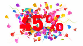 45 από τα τοις εκατό Στοκ φωτογραφίες με δικαίωμα ελεύθερης χρήσης