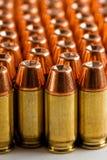 45 acp-ammunitionar Arkivfoto