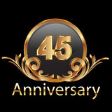 45 anniversary happy birthday Royalty Free Stock Photos