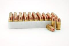 45 balas do calibre fotografia de stock