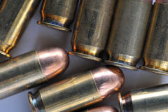 45 caliber acp cartridge Royalty Free Stock Image