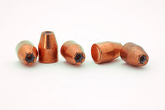 45 caliber bullets Royalty Free Stock Image