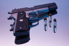 45 Caliber Semi Automatic Royalty Free Stock Image