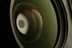 45 camera lens. 105 mm 45 camera lens Royalty Free Stock Photo