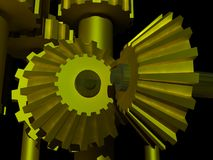 45 degree gears Stock Photos