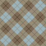 45 Degree Plaid Pattern_Brown-Blue Stock Images