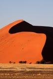 45 dyn namibia över soluppgång Arkivfoto