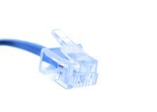 45 kablowego włącznika odosobniony rj biel obraz stock