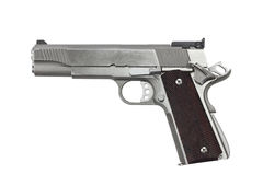 45 Kaliber-Pistole Lizenzfreies Stockbild