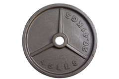 45 lbs barbell weight Stock Photos