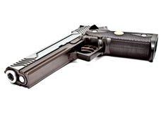45 moderna halvt för automatisk handeldvapen Arkivfoto