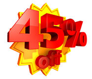 45 percent price off discount Royalty Free Stock Photography