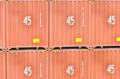 45 pieds de conteneurs de marchandises de haut Photos stock