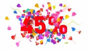 45 por cento fora Fotos de Stock Royalty Free