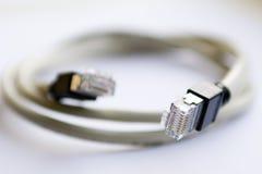 45 rj cable Fotografia Stock