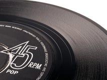 45 t/min vinyl pop verslag Stock Afbeeldingen