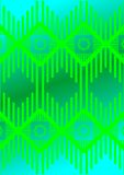 45. Tracery, free themes. Patterns in the form of a wavy line of the abstract, with a shifted copy, on a green background Stock Images