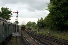 4500 klasowego gwr lokomotorycznego prairi mały kontrpary pociąg Obrazy Royalty Free