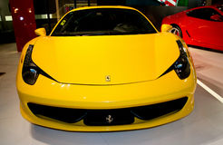 458 ferrari yellow Royaltyfri Bild