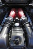 458 motor ferrari Arkivfoton