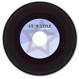 45rpm fejkar etiketten registrerad vinyl Arkivfoton