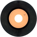 45rpm Vinyl record cutout Royalty Free Stock Photos