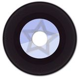 45rpm Vinyl Record with Fake Label Royalty Free Stock Photo
